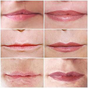 Lip tattoo